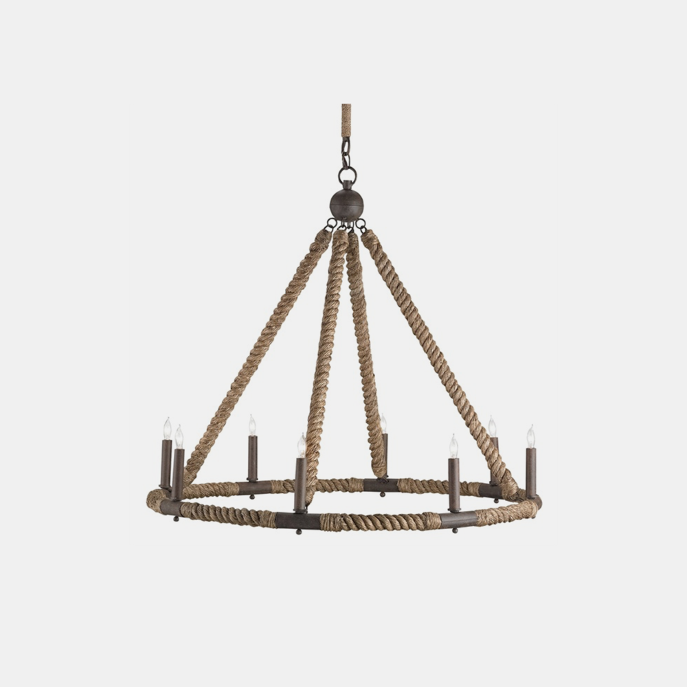 "Bowline Chandelier  33"" round x 29""h, adjustable from 52""–119""h"