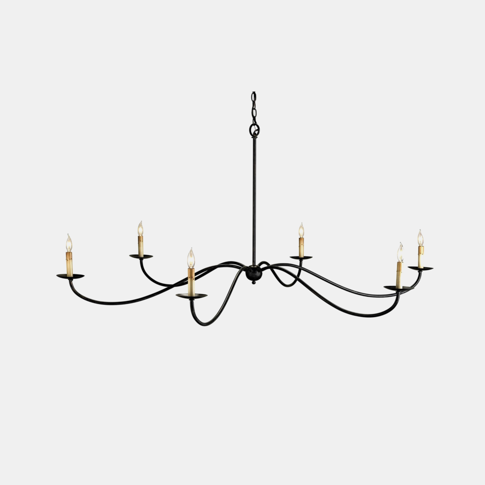 "Saxon Chandelier  63"" round x 29""h Available in black (shown) or silver."