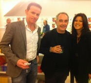 With wife Giselle and Ferran Adrià