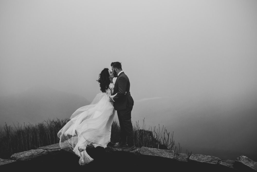 Craggy Gardens Asheville, NC Elopement photographer