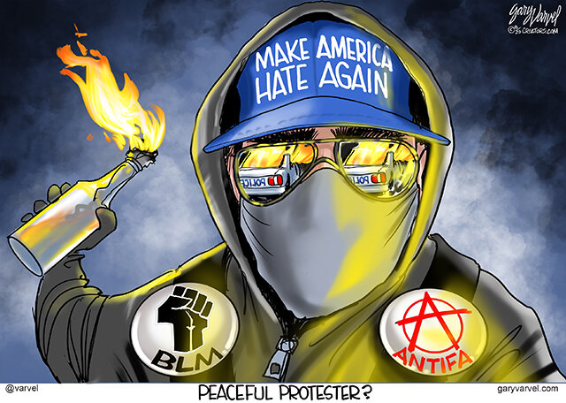 Peaceful protesters? – Varvel's Views