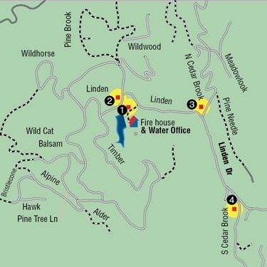 Drop box locations: - 1903 Linden DriveLinden at LindenNorth Cedar Brook at LindenSouth Cedar Brook at Linden