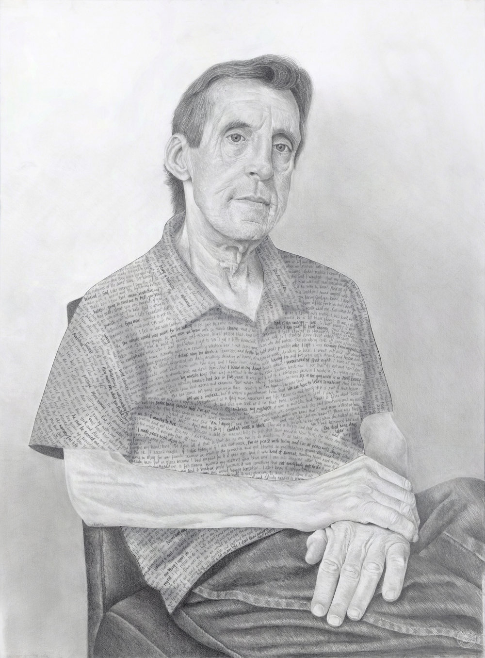 """Randy - Pencil on drawing and tissue papers - 30"""" x 22"""" - 2015"""