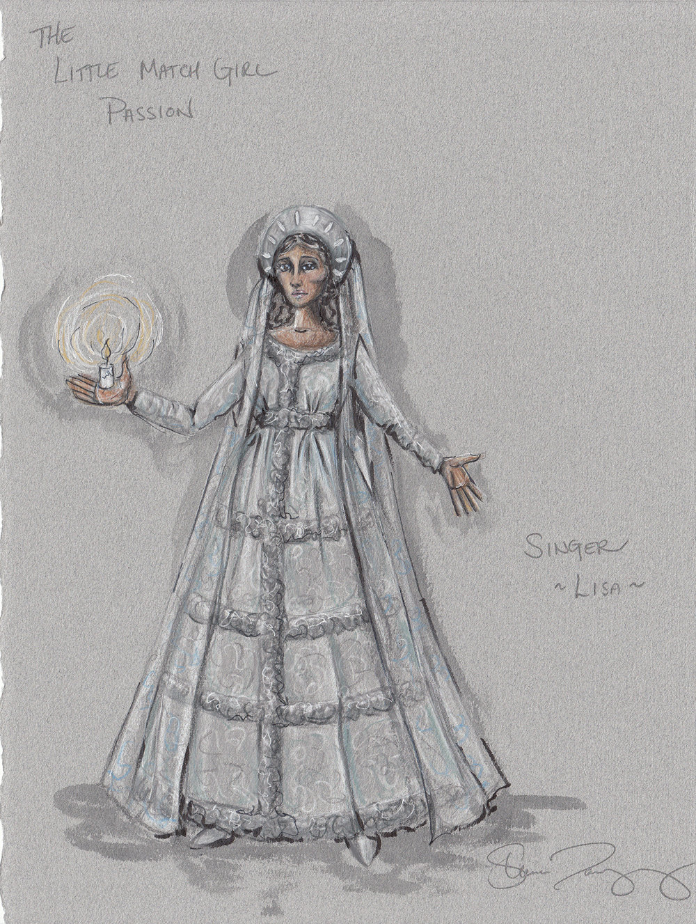 Costume Rendering for The Little Match Girl Passion