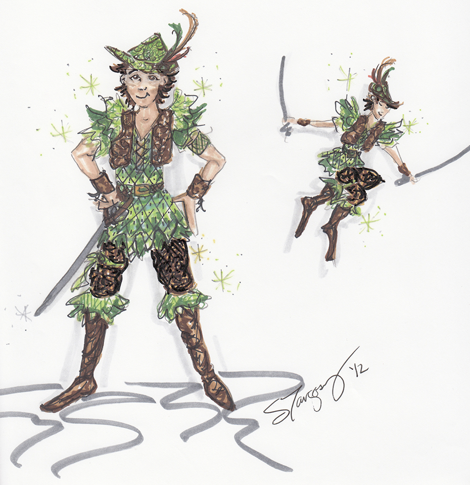Costume Rendering for Peter Pan