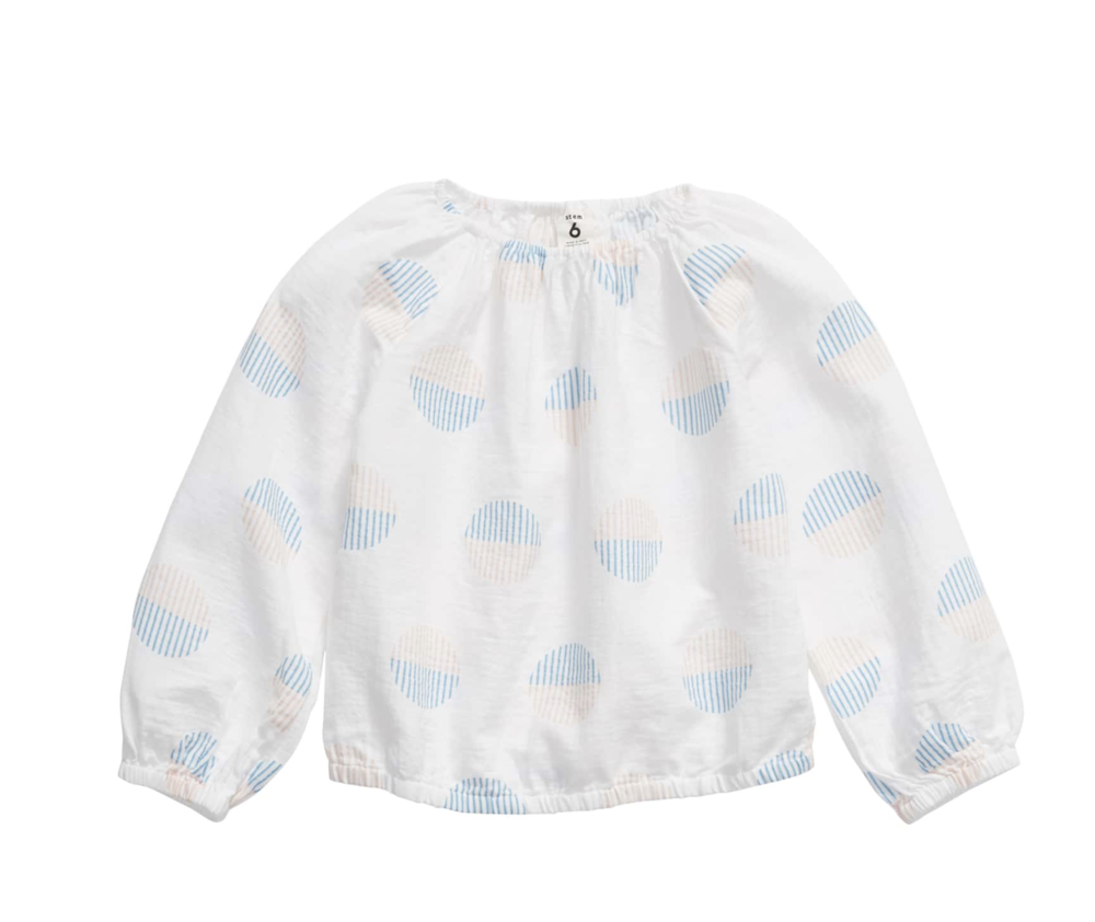Top - When I saw this blouse I just couldn't resist. The soft pastel tones scream spring. This top will transition us straight through to summer nights.