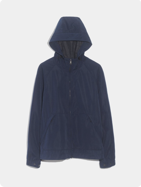 Raincoat - Just like with my pick for footwear, this coat is excellent for serving as a light barrier from the elements and yet stylish enough to fool most anyone who you'd tell you're wearing a raincoat.