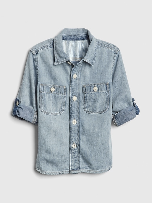 Denim Shirt - I love the versatility of a demin shirt on little boys. And this one from Gap Kids is the perfect light denim tone for spring.