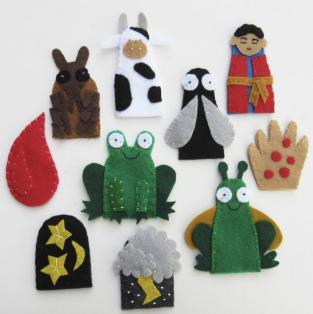 finger puppets - order by the 12th to get these adorable finger puppets in time for passover.