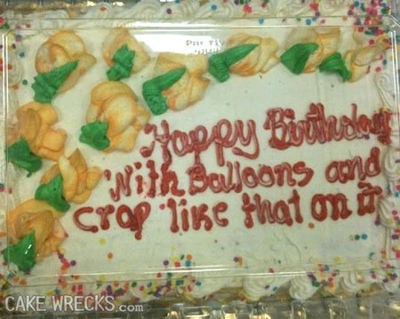 Pleasant Finally A Baker Who Gives A Crap Cake Wrecks Funny Birthday Cards Online Alyptdamsfinfo