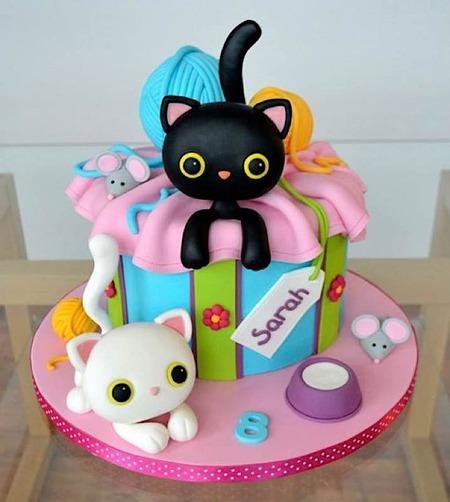 Tremendous Sunday Sweets Goes Crazy Cat Lady Cake Wrecks Funny Birthday Cards Online Elaedamsfinfo