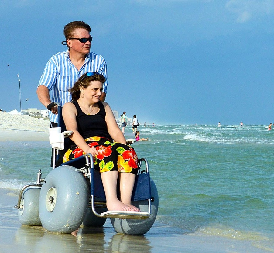 About Deming Designs - Learn more about our founders and the challenges they faced that lead them to creating the most innovative beach wheelchairs in the world.