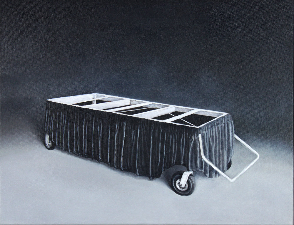 Trolley 2 , 2018, oil on canvas, 36 x 45.5 cm