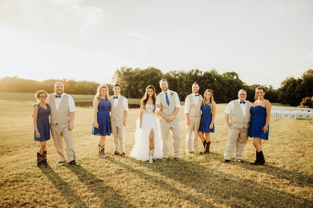 A Beautiful Wedding Party at THE RANCH