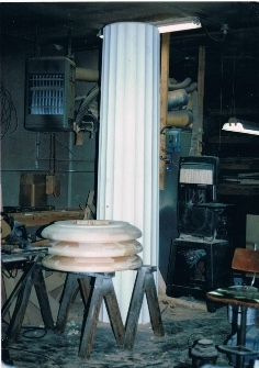 Finished Column and Parts of Three Capitals for Equinox House