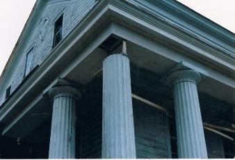 Equinox House Columns Before Restoration