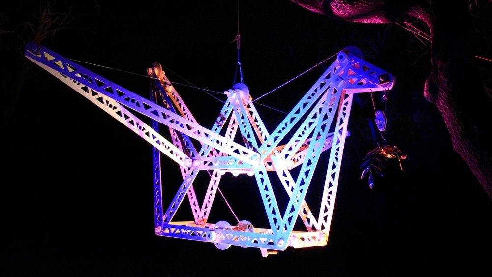 Winter Solstice Peace Crane . Flying on 12/21/12 in Albany, NY. Photo by Albert Gnidica.
