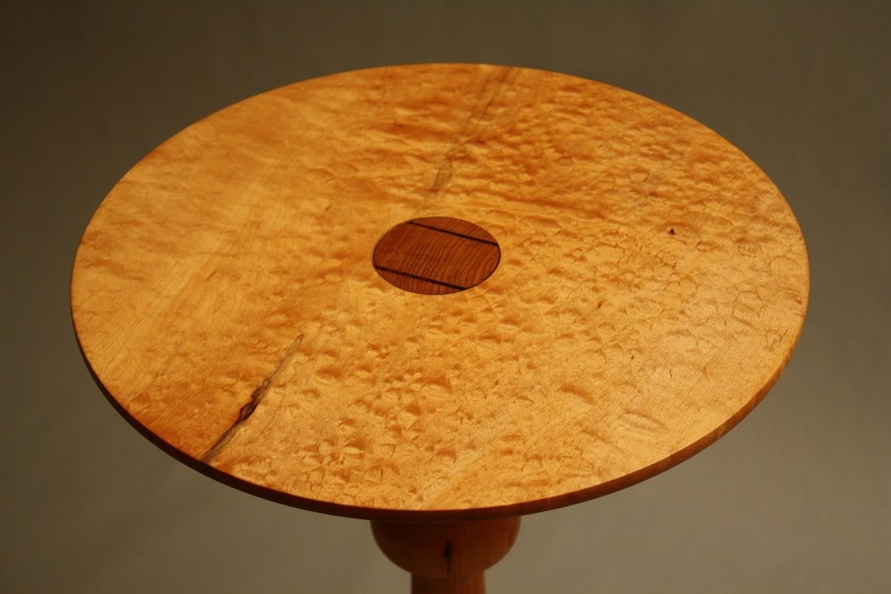 Dripping Candlestand Table, top detail