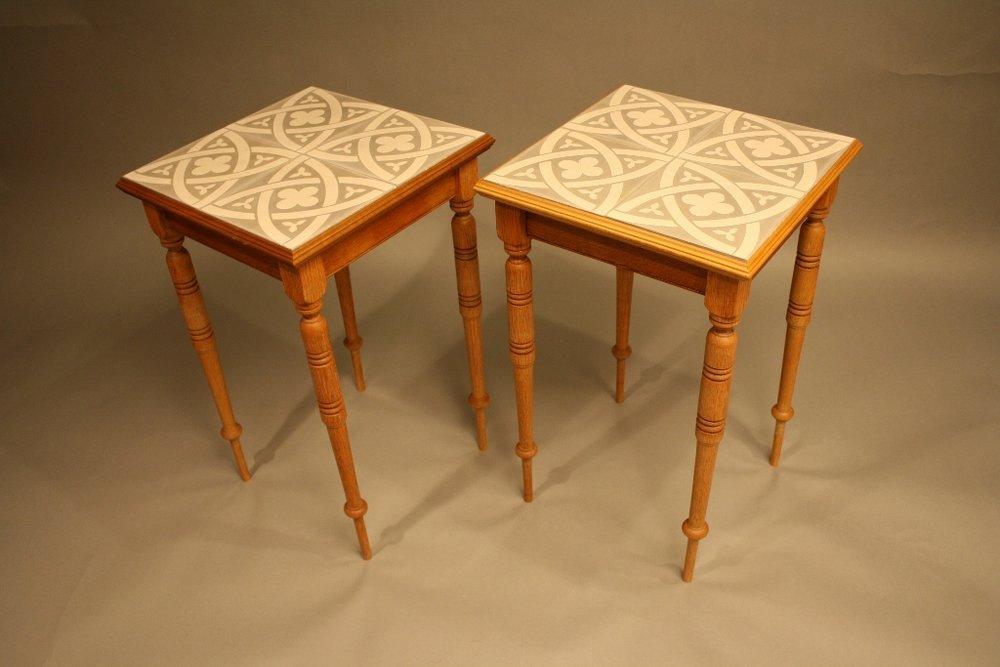 Encaustic End Tables