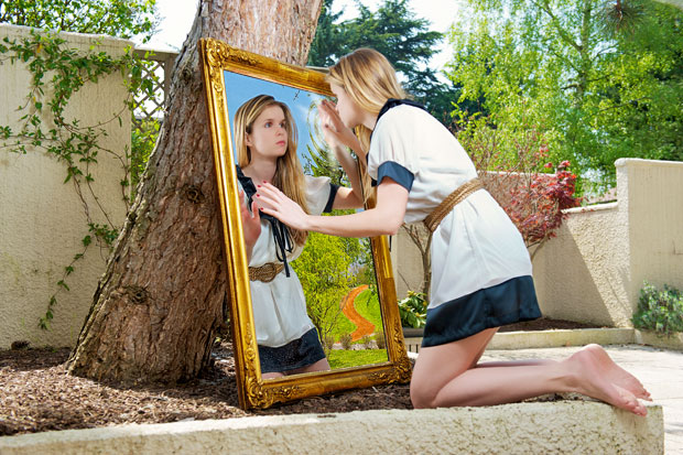 There is a magic world behind the mirror