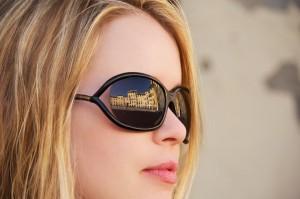 Reflection of Piazza del Anfiteatro
