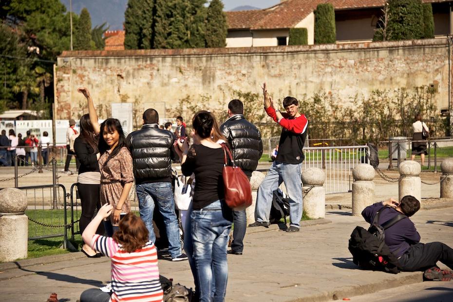 Strange people in Pisa