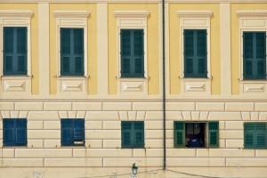 Painted facade in Portofino