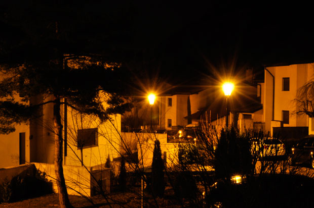 Wysteria Lane by night