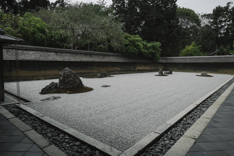 Ryoan-ji rock garden, Kyoto.