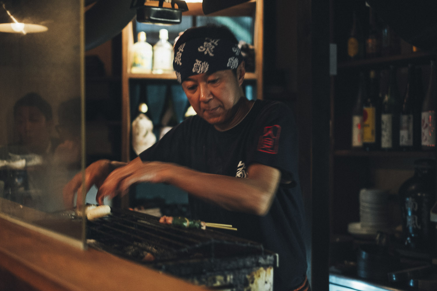 The owner of Hitomi in Kyoto doing his thing.