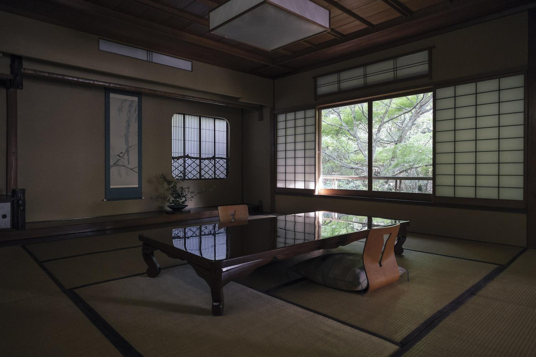 The dinning room at ryokan Iwaso, Miyajima.