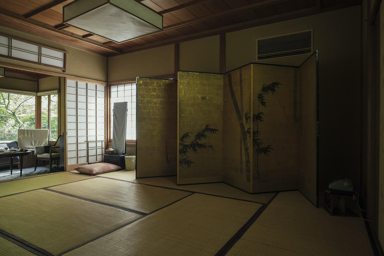 The room at ryokan Iwaso, Miyajima.