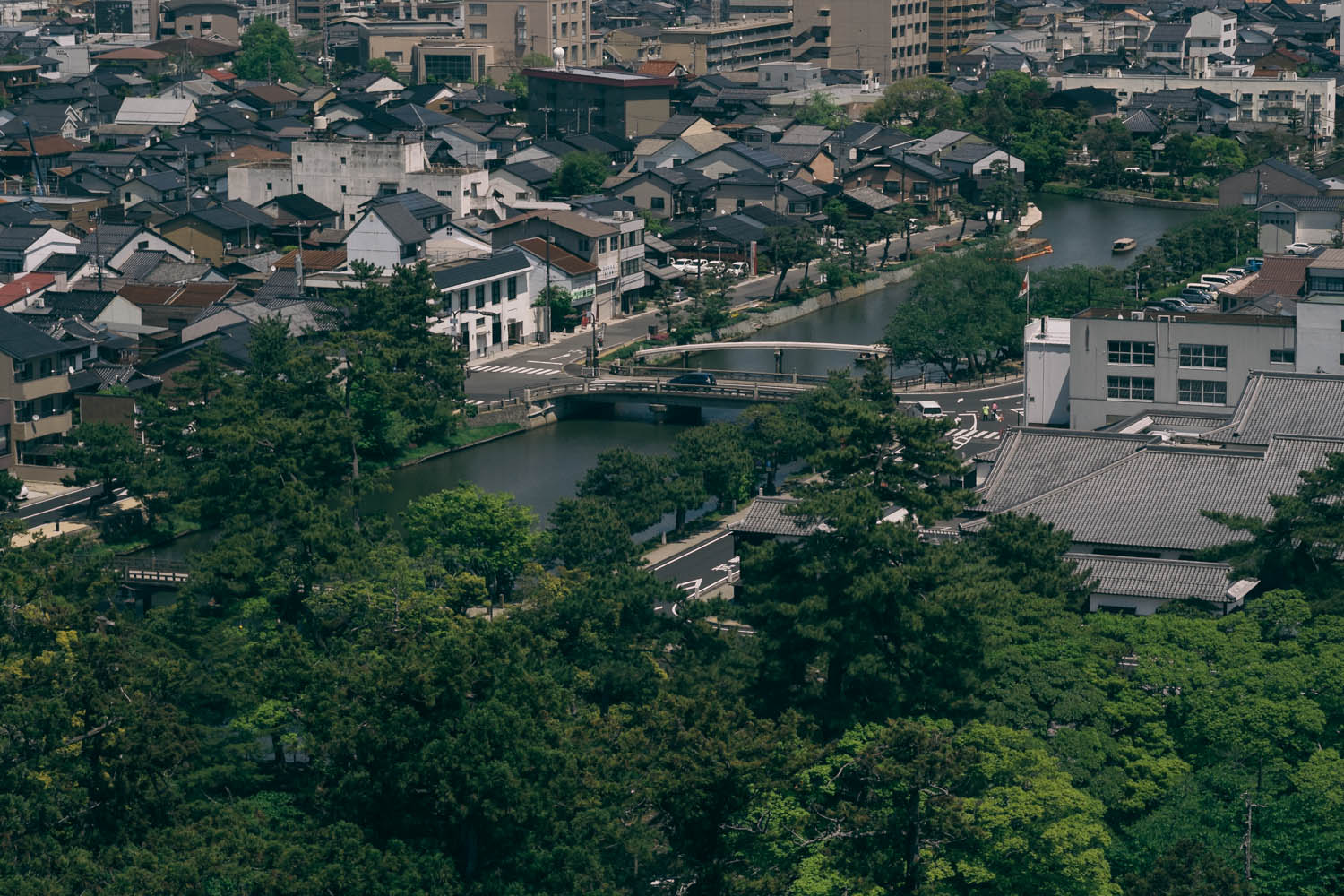 View from the castle's observation tower, Matsue.