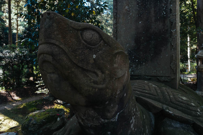 Giant turtle at Gesshoji Temple, Matsue.