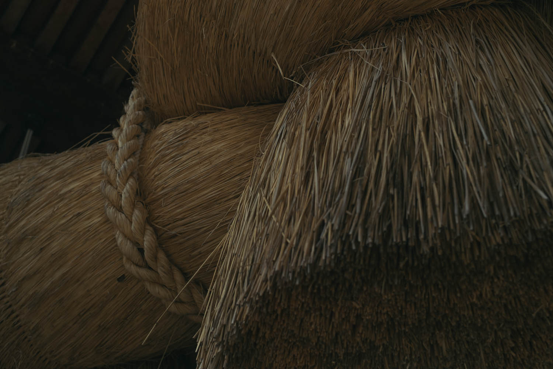 Detail of the giant rope at Izumo-taisha, Izumo.