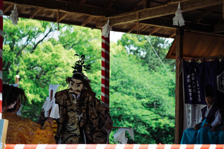 Kabuki (?) at Izumo-taisha, Izumo.