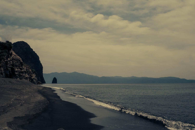 Black sand and East China sea, Ibusuki.