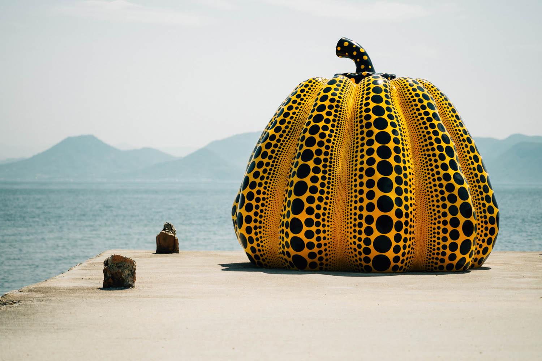Yellow Pumpkin by Yayoi Kusama, Naoshima.