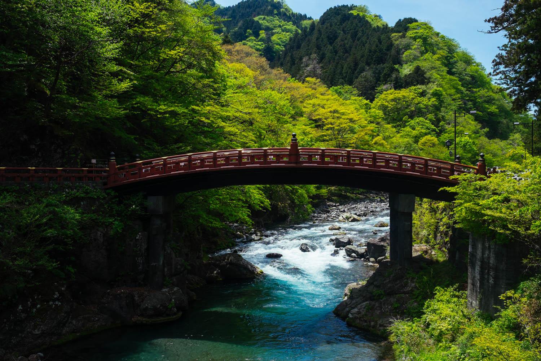 Shinkyo bridge in Nikko.