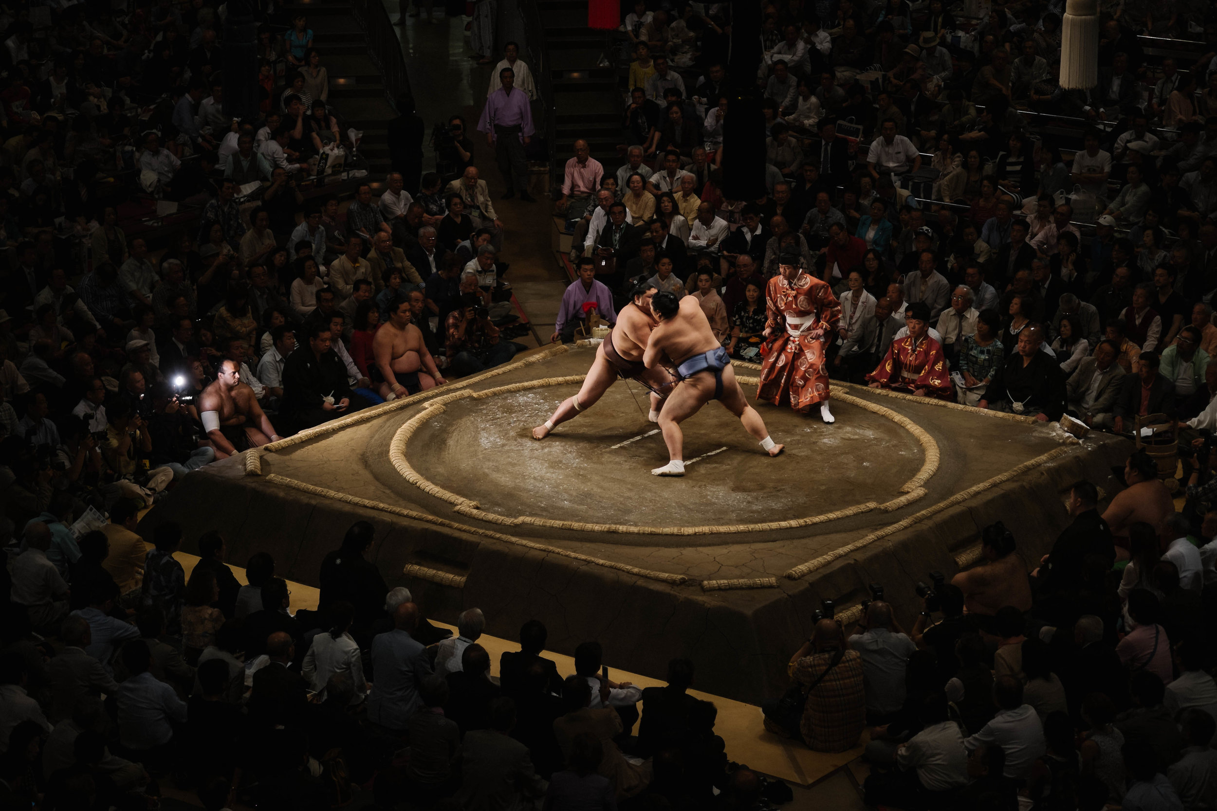 Fighting for pride, honor and money! Sumo tournament, Tokyo.
