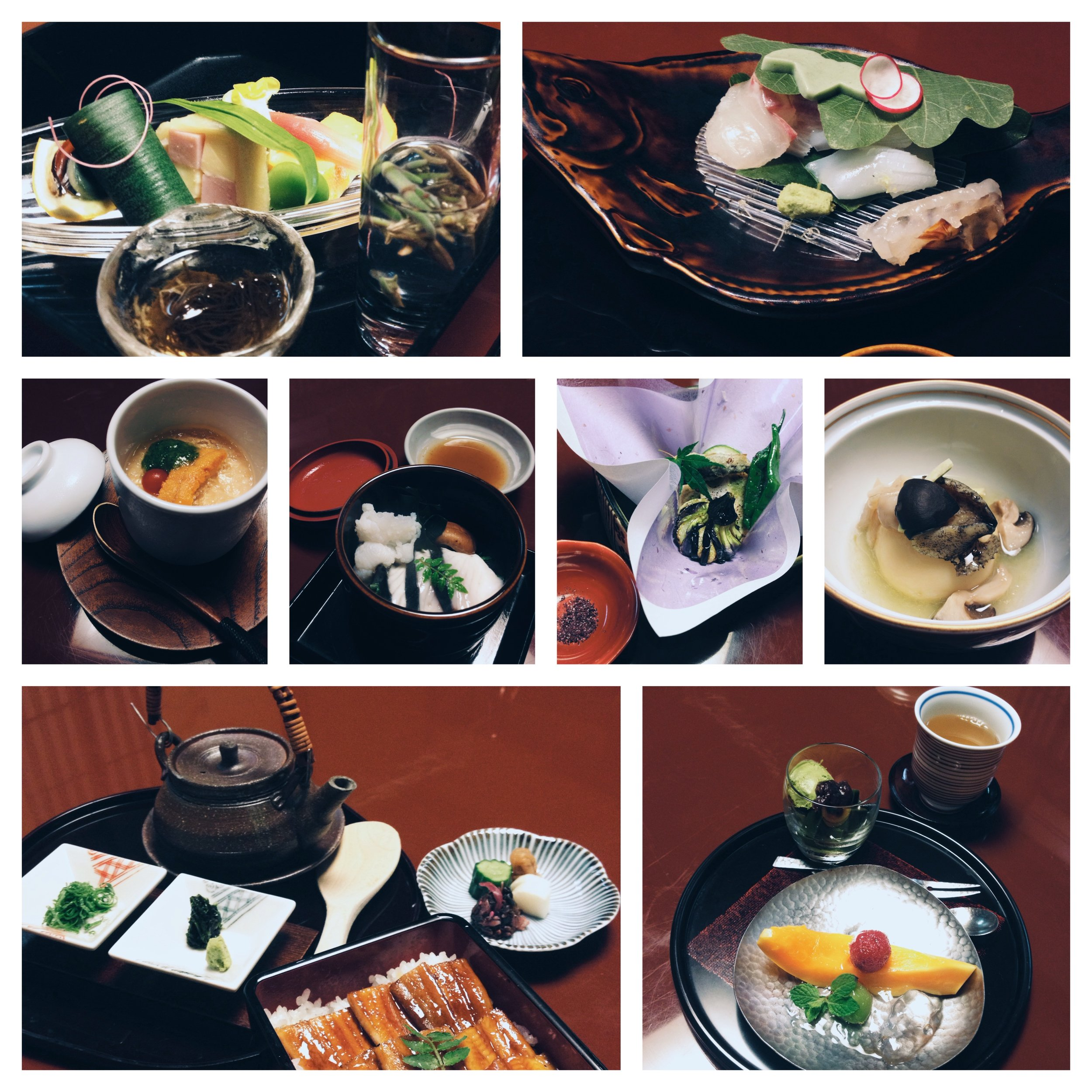 7-course dinner at ryokan Iwaso, Miyajima.
