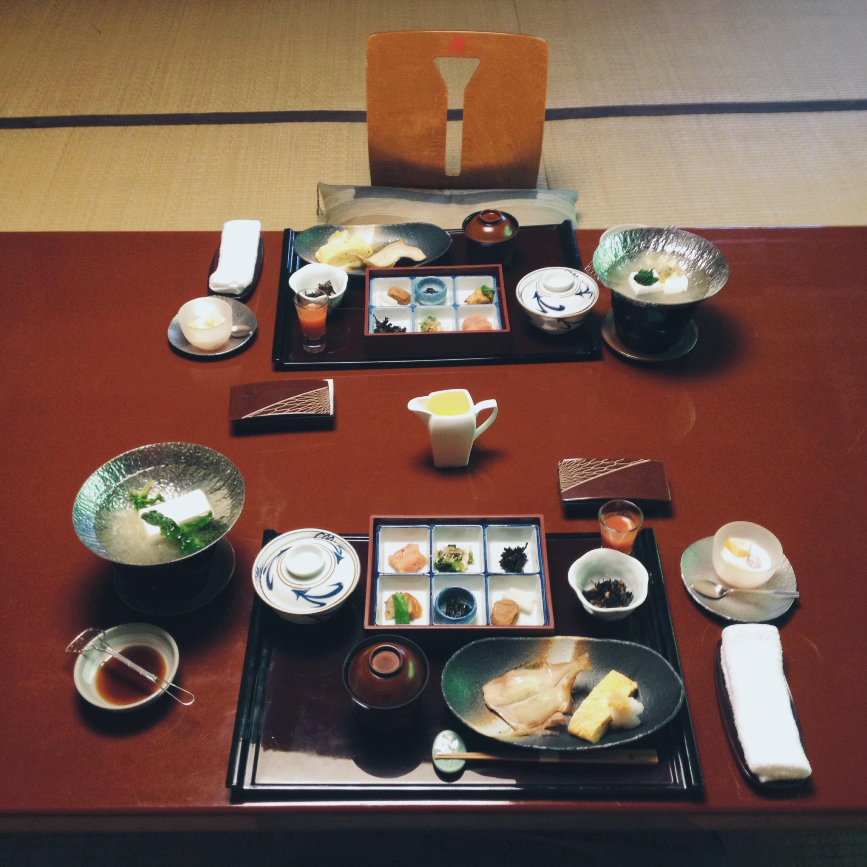 Breakfast at ryokan Iwaso, Miyajima.