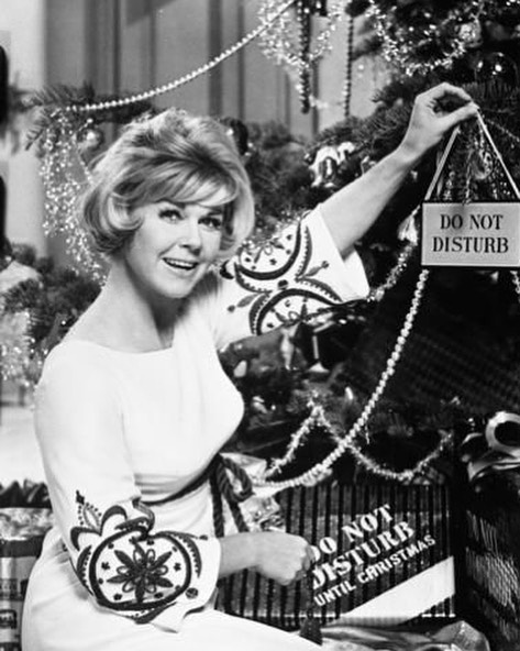 "Do Not Disturb Until Christmas. 🎄🤫🎄 . . . 📸 Doris Day in a promotional shot for ""Do Not Disturb"" circa. 1965."