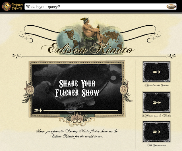 "YouTube became the ""Edison Kineto,"" a way to share ""Roving Maria"" mobile flicker shows."