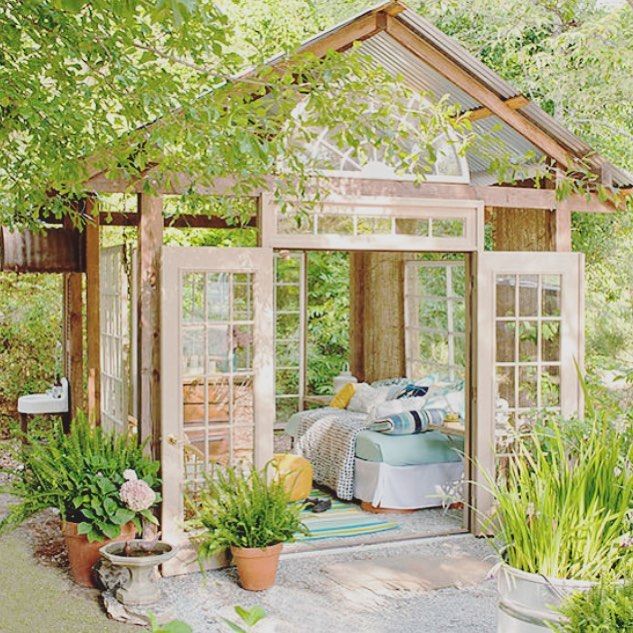 Can't a girl dream ? 💕🌸🌴 I love this #sheshed! Because of all the windows you feel  like apart of nature without enduring the bugs🦟, heat 🔥or sun ☀️! Adding to my bucket list! What does your #happyplace look like? • • • • • #daydreaming #happymail #personalgrowth #treatyoself #iamenough #beyourself #subbox #selflove #mentalhealth #spiritualgrowth  #bedifferent #loveyourself #selflovekit #wellness #mentalhealth #ladybosses #mompreneur #lifestylebloggers #womenempowerment #blackgirlmagic #momblogger #selfcare #tampa  #bekindtoyourself #girlpower #believer #endhumantrafficking #giftsforher
