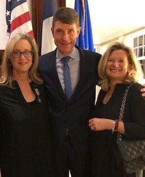 Janet Bishop, Emanuelle Lebrun-Damiens (Consul General of France), Florence Buatois (President, Board of Directors, FACS)