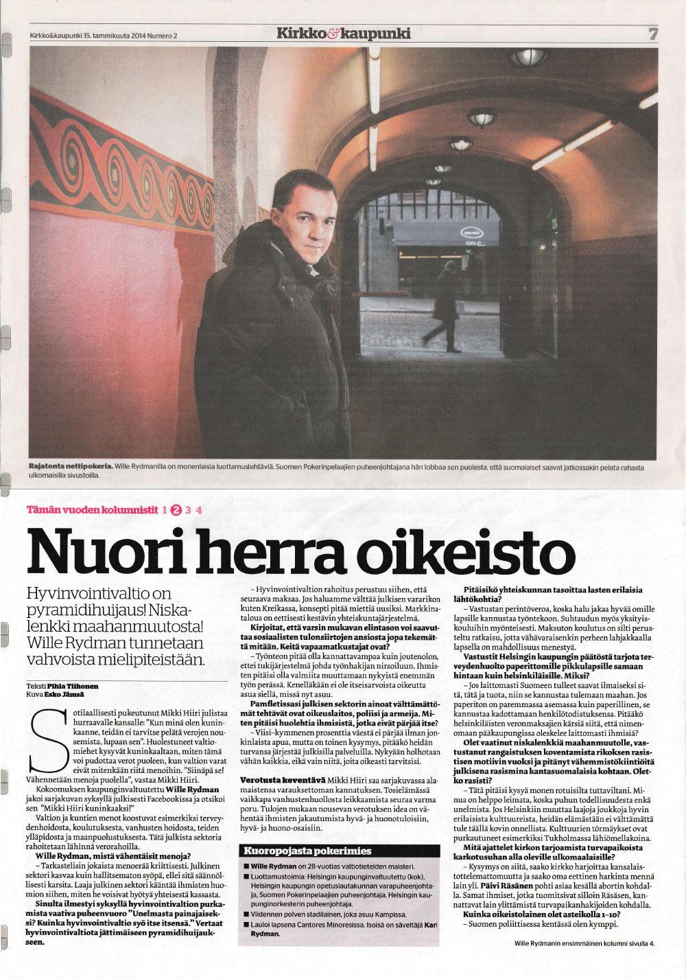 NUORI HERRA OIKEISTO - Kirkko & Kaupunki15.01.2014