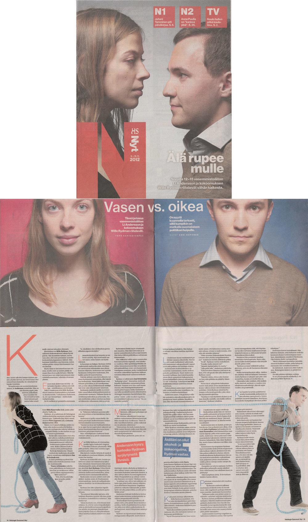 ÄLÄ RUPEE MULLE - NYT-liite / Helsingin Sanomat 09.11.2012