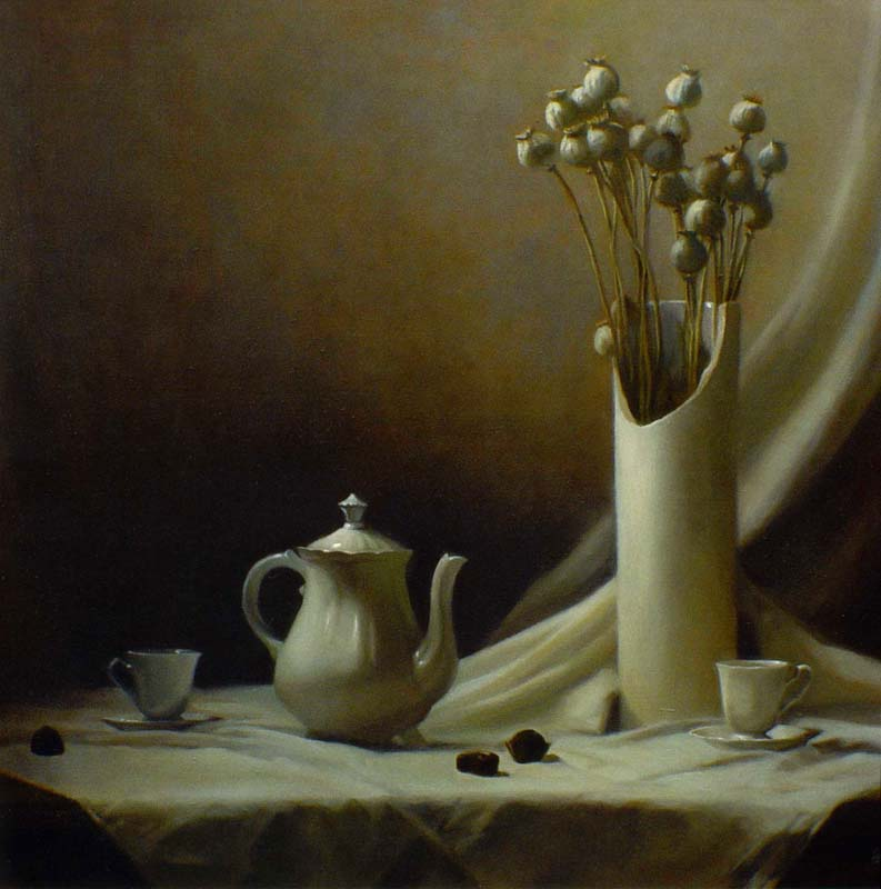 Black Coffee  oil on canvas cm. 85 x 80 2008  SOLD