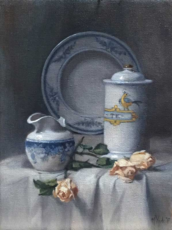 Blue and White Porcelain  oil on linen 40 by 30 cm. 2017  SOLD